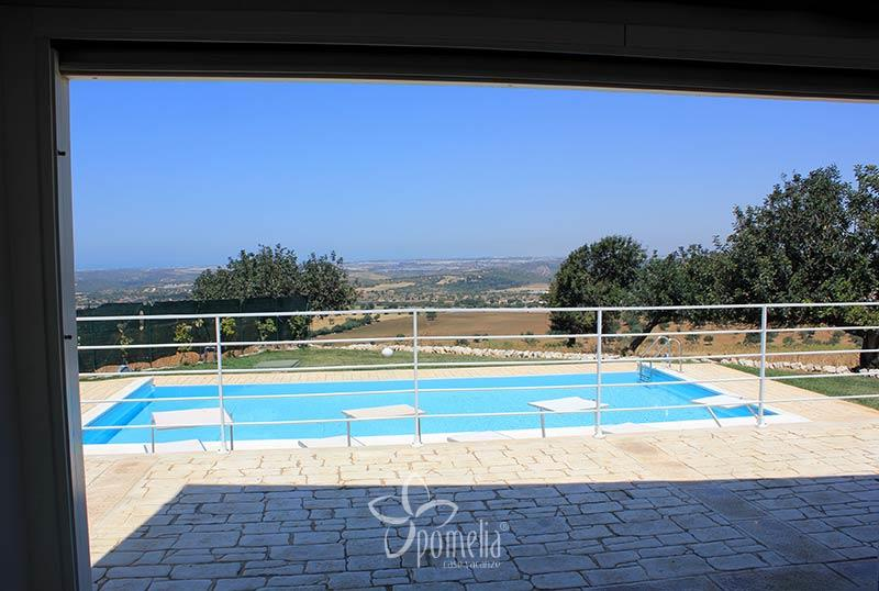 Atena, villa with view and a panoramic swimming pool - Living room