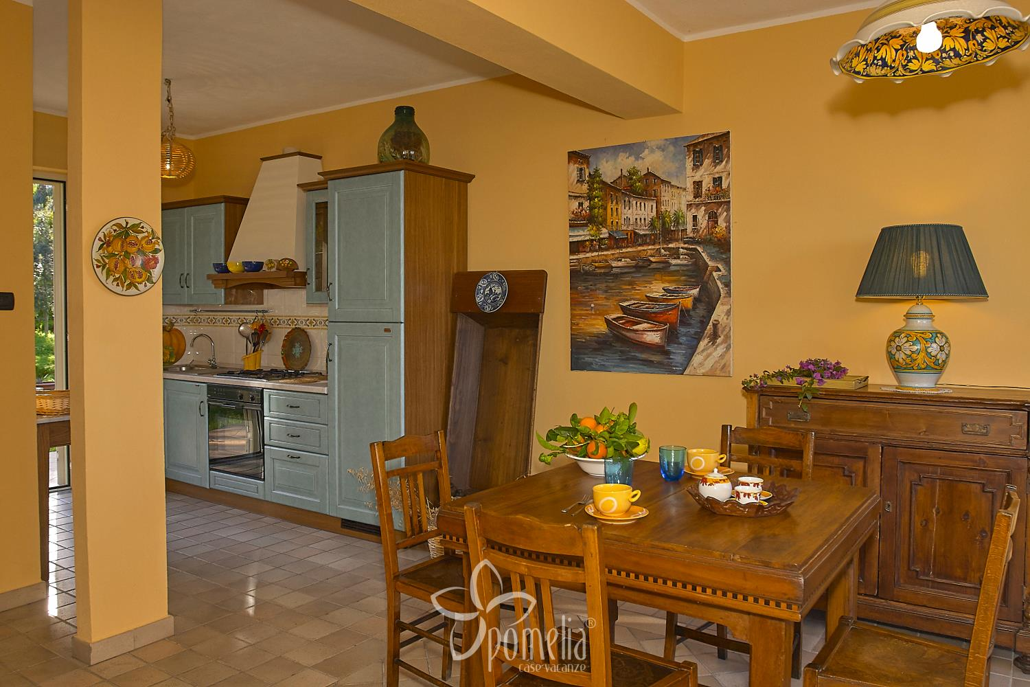 Marena, villa at 50 mt. from the beach in Gioisa Marea (Messina) - Kitchen